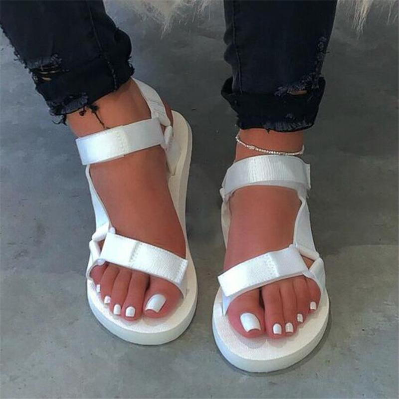 LaNew Summer Women Sandals Flat Buckle Strap Shoes Ladies Platform Outdoor Casual Beach Slides Womens Plus Size Footwear 35-43