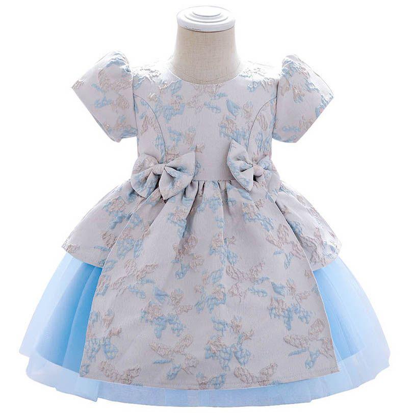 طفل اللباس الانحناء حفلة عيد الفتيات فساتين مهرجان الزفاف فساتين رسمية الأميرة الاطفال ملابس الرضع الملابس B3810