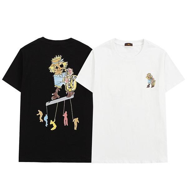 INS Sıcak Bahar Yaz Hip Hop T Gömlek Silikon Tee Kaykay Tshirt Sis Erkek Kadın Kısa Kollu Rahat T Gömlek