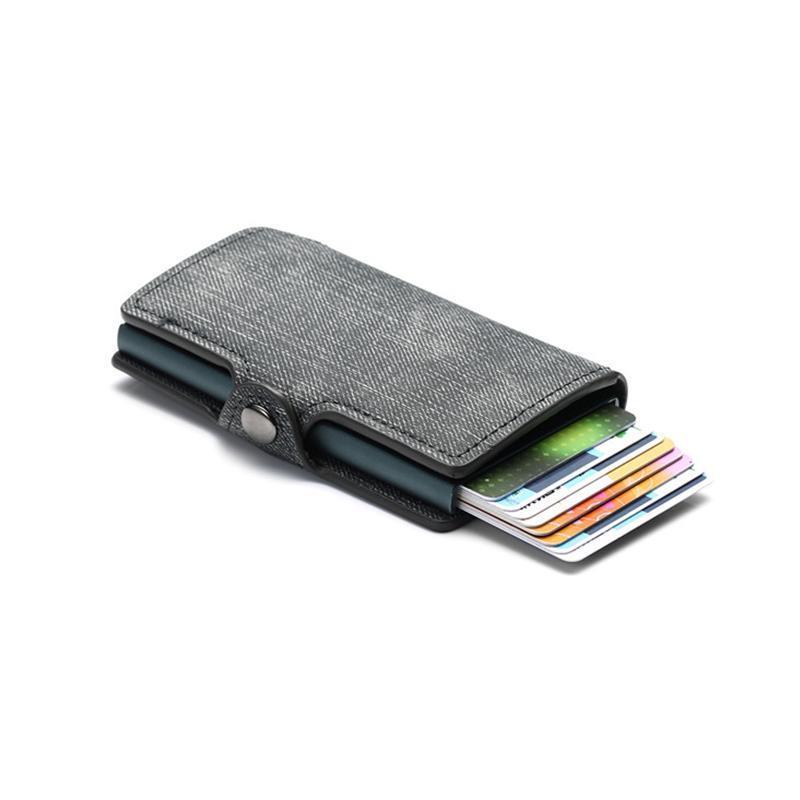 BYCOBECY 2020 Yeni Renkli Kredi Kartı Sahibi RFID Engelleme Ince KIMLIK Tutucular PU Tek Alüminyum Kutusu İş HASP Kart Jllvmn