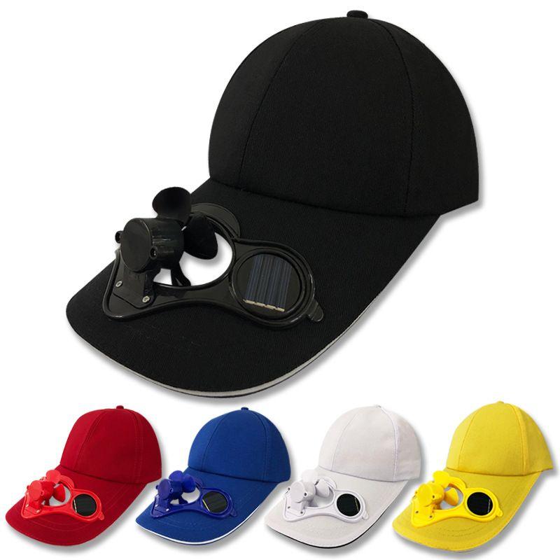 Solar Power Fan Hat Snapbacks Cooling Cool Golf Baseball Escursionismo Pesca Pesca Cap