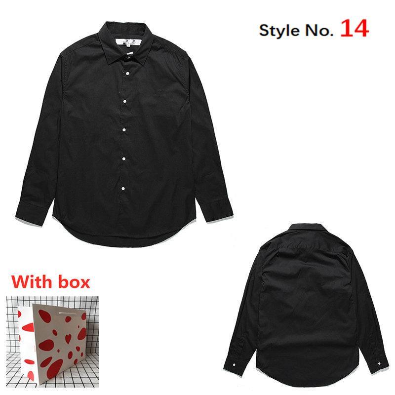 Yeni Erkekler Gömlek Bayan Uzun Kollu Yüksek Kalite Casual Gömlek Mektubu Baskılı Hip Hop Tarzı Giysileri Ile Etiket Kutusu