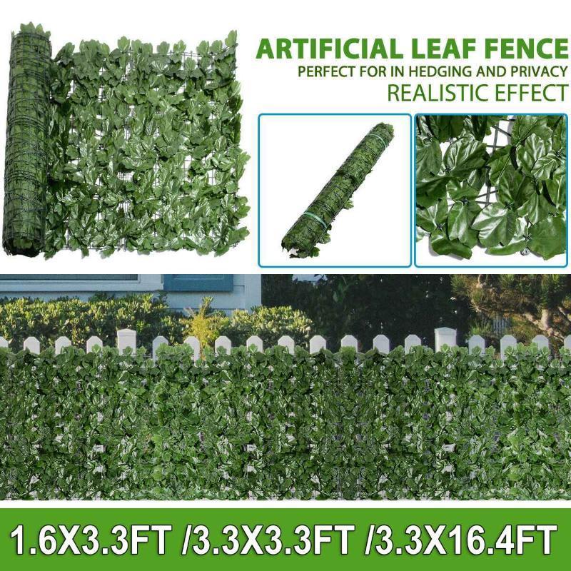 Искусственная хедж, смоделированный плющой листья ограждения ограждения конфиденциальности крышка садовая стена декоративная решетка искусственная трава сетка