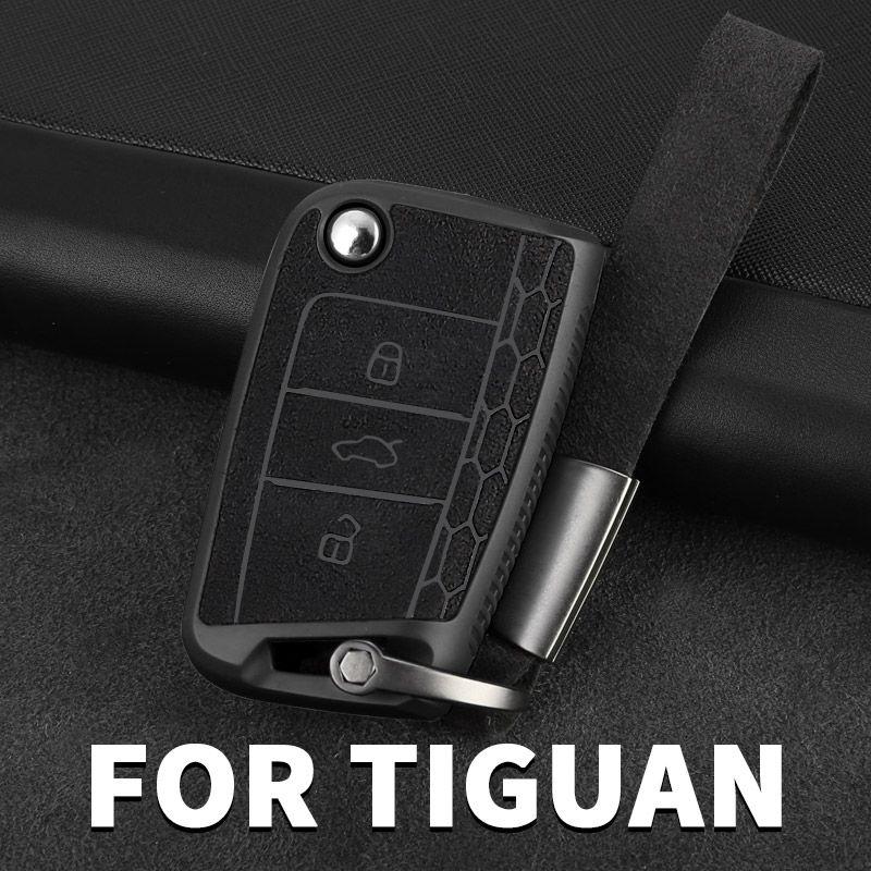 Специальные аксессуары для автомобильного ключа Чехол Дистанционного управления Сумка защитная оболочка для VW Volkswagen Tiguan MK2 2016 2017 2018 2019 2020