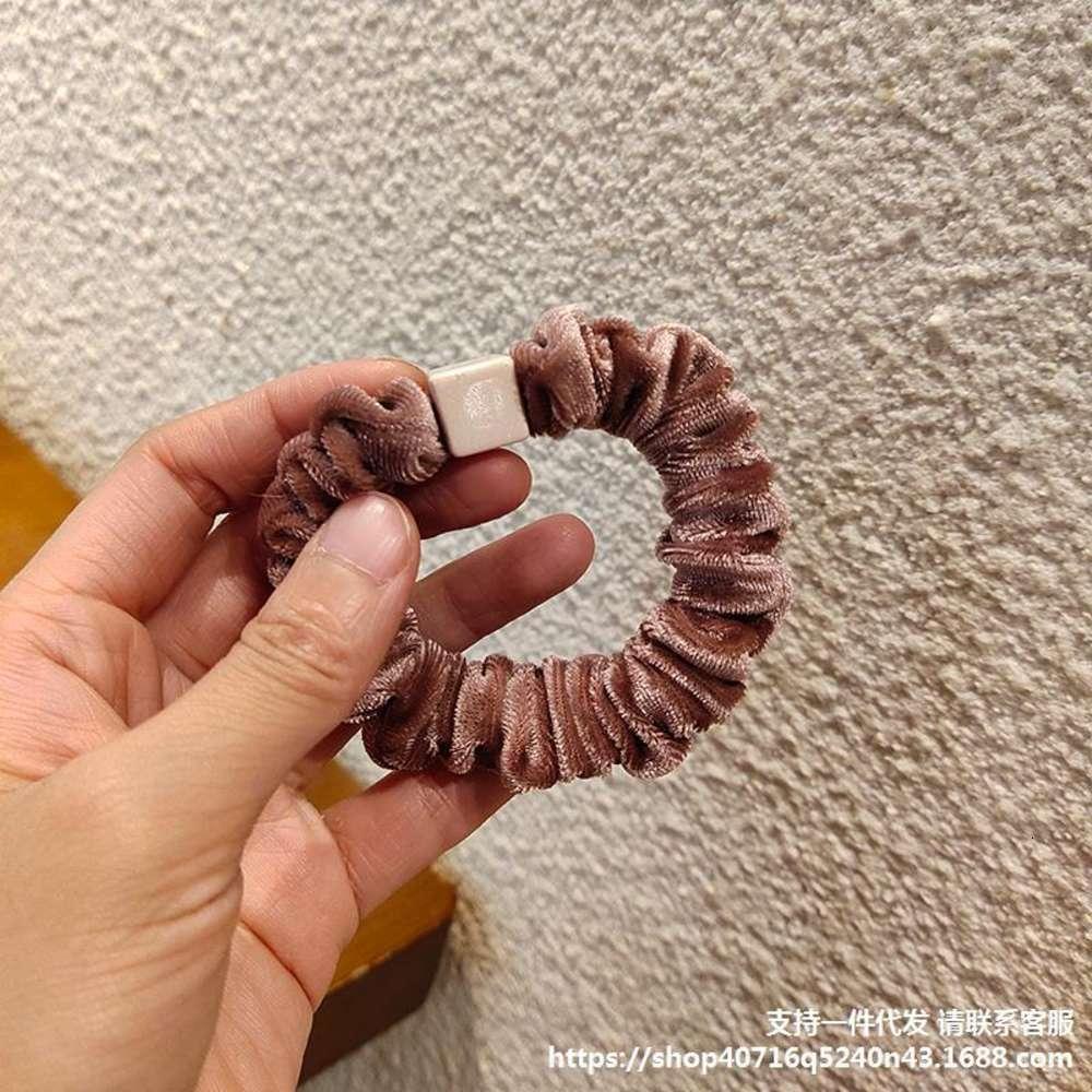 Корейский Dongdamen оголовье простой темпераментный хвощной уборной большой кишечник кольцо резиновые полосы женские осень зима браслет двойной цель