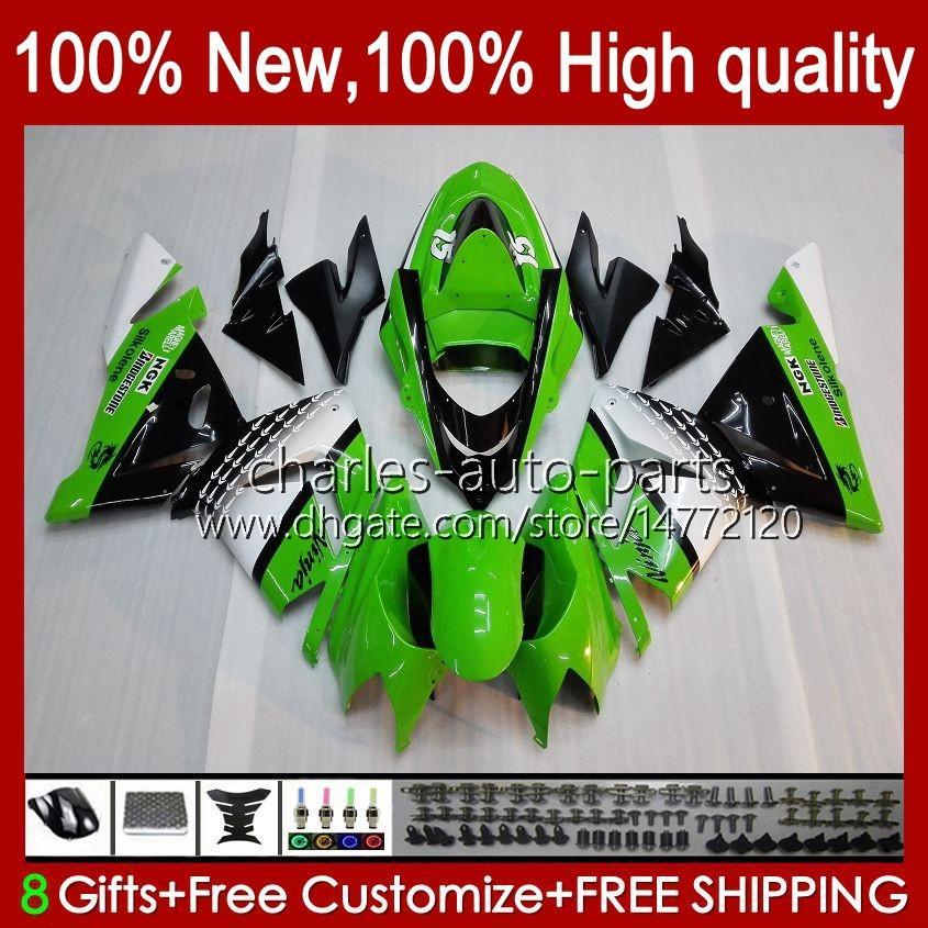 Kawasaki Ninja ZX1000C ZX 10 R 1000 CC ZX1000 04-05 BODYWORK 9NO.14 ZX 10R 1000CC ZX10R 04 05 ZX-10R ZX1000CC 2004 2005オートバイフェアリングストックグリーン