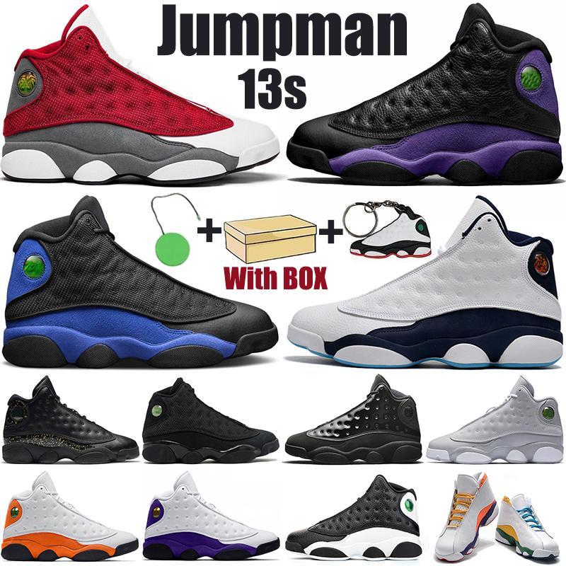 Hotsale Jumpman 13s мужская баскетбольная обувь суд фиолетовый гипер королевский красный флинт золотой блеск аврора зеленые мужчины женщины спортивные тренажеры кроссовки с коробкой