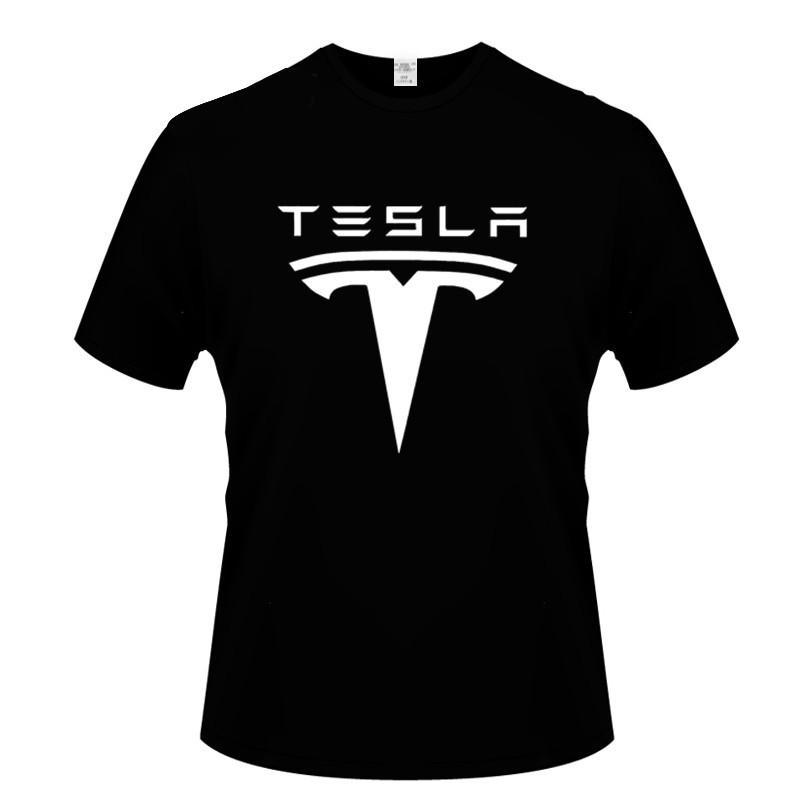 Tesla NOUVEAUX HOMMES T-shirts à manches courtes imprimées T-shirt imprimé Hommes T-shirt De Bottom Couleur Solide Vêtements Casual Casual Tops Tees C0310