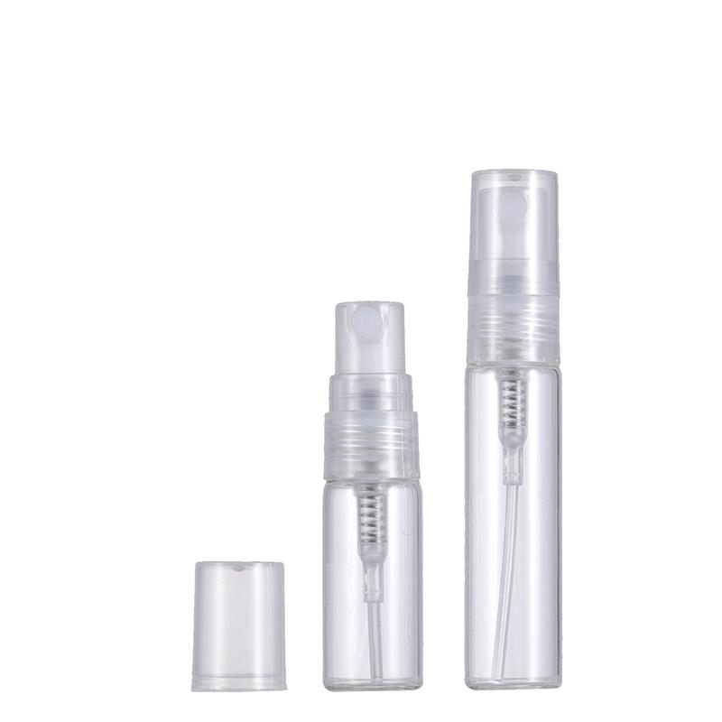 Wholesale 2ml 3ml 5ml 10ml Small Glass Spray Bottle Empty Transparent Cosmetic Perfume Container With Mist Atomizer Nozzle For Sample And Travel