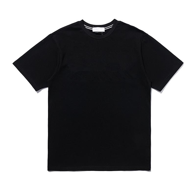 CPTOPSTONEY 2021 여름 패션 수 놓은 TShirt 캐주얼 간단한 망 짧은 소매 순수 면화 애호가 짧은 소매