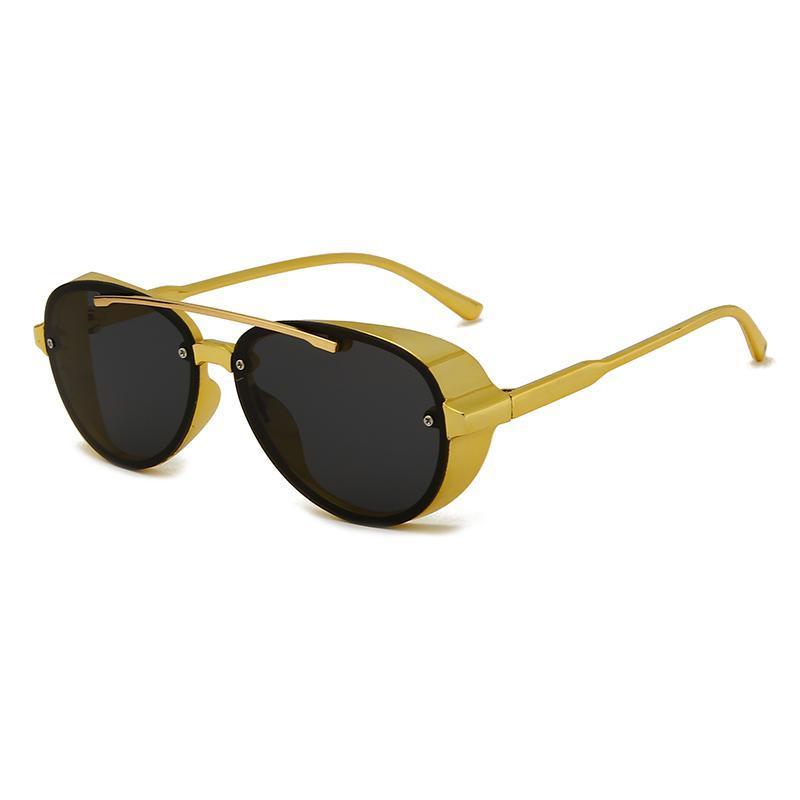 Sonnenbrille runde steampunk bunte unisex vintage männer frauen berühmte mode fahrer sonne glässes retro sonnenbrille für