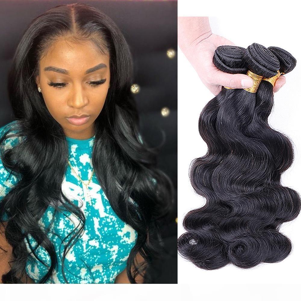 8A Brasileño Body Body Wave Virgin Hair Bundles Indio Brasileño Malasia Body Wave Human Hair Weave Bundles Color natural