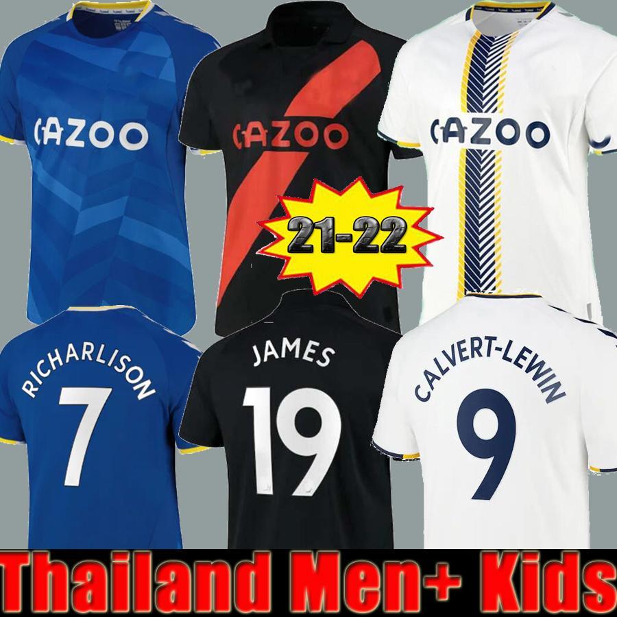 2021 2022 Everton James Rodríguez del fútbol de los hombres + Niños camisetas de Sigurdsson Kean Delph Gbamin André Gomes Inicio  Richarlison las camisas del fútbol