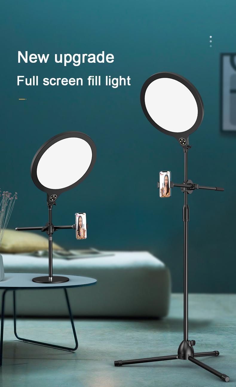 Selfie Halka Işık LED Tripod USB Mobil Tutucu Destek Ringlight Canlı Video Streaming Dimable Makyaj Lambası Tık Tok YouTube