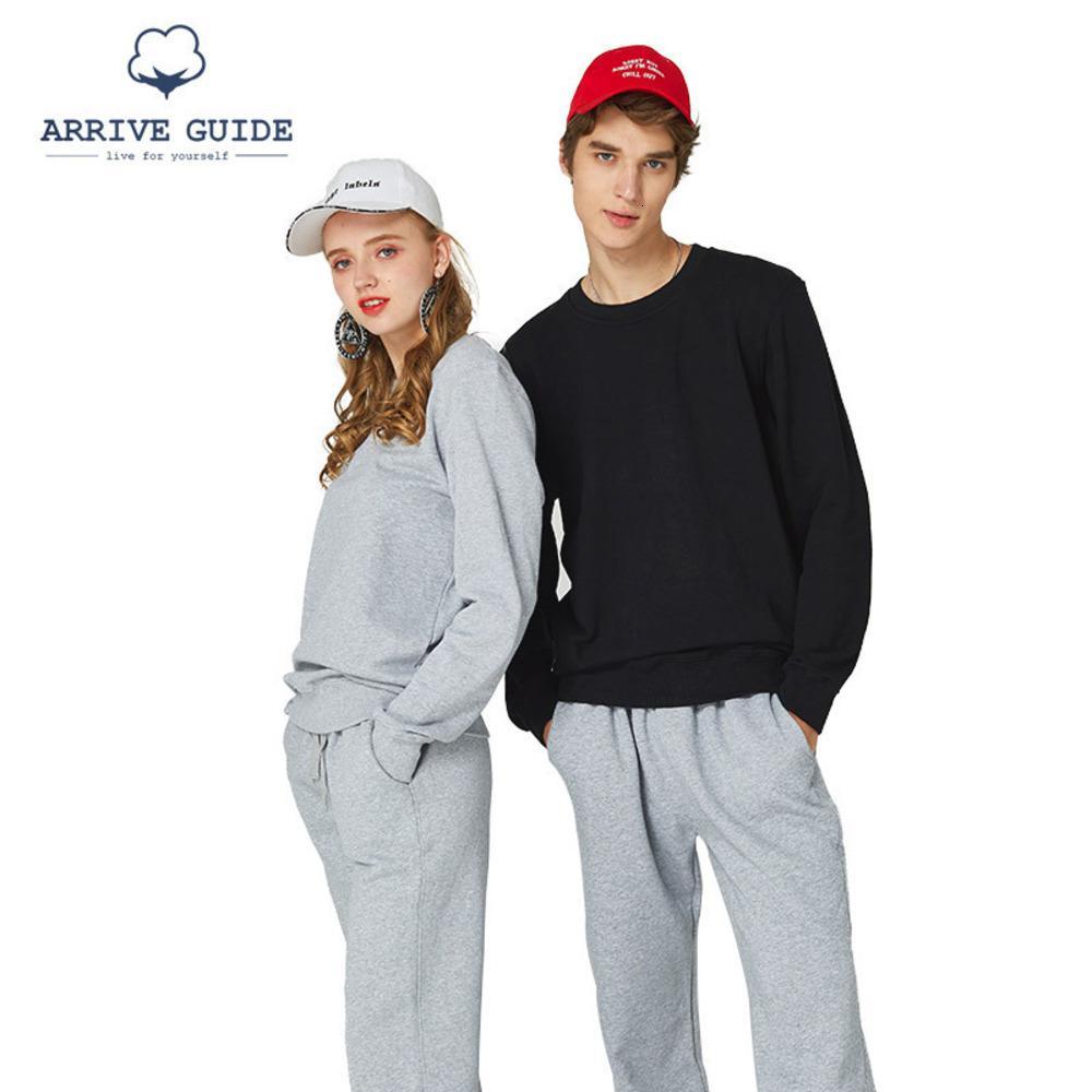 Толстовки AG 6W019Y1 # 480G Терри круглый шейный свитер