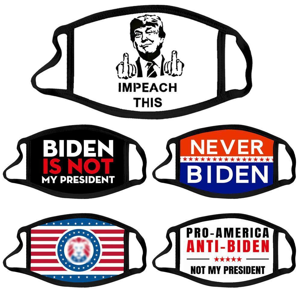 Трамп 2024 избирательная партия маска президент BiDen ткань лицо маска козыря хлопчатобумажная пылезащитная стиральная ткань маска 5 стилей оптом