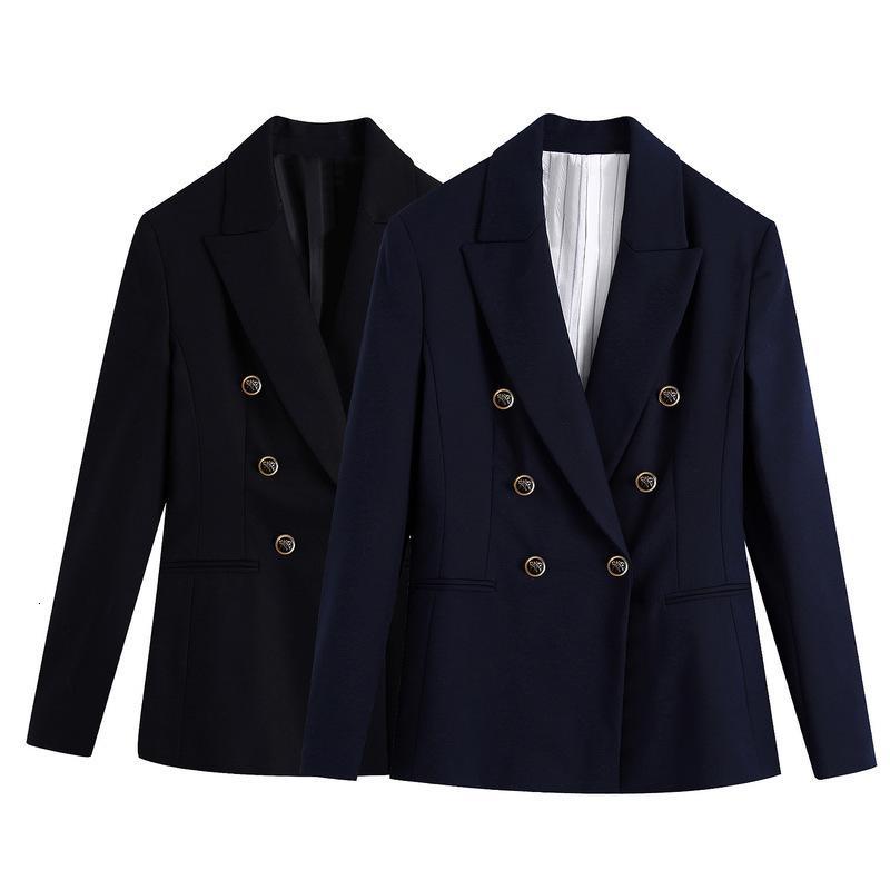 2021 yeni sonbahar Avrupa ve Amerika Birleşik Devletleri kadın giyim bir kruvaze bir kat yetiştirme ahlak kadın takım elbise GHO0