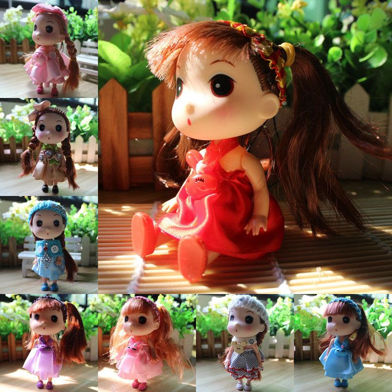 Творческие детские игрушки смущенные кукла мобильный телефон ключ кольцо подвеска подарок для подруги