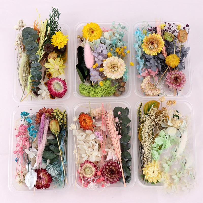 Flores decorativas grinaldas de prensagem real misturado misturado DIY arte floral decoração prego pingente artesanato artifi freartificial