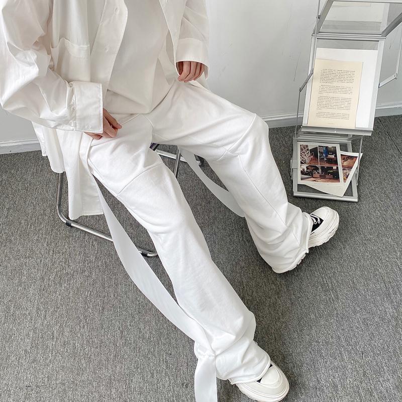 Pantalones para hombres Pantalones de chándal masculinos Japón Corea estilo Pantalones largos Hombres Primavera Niche Design Streetwear Cinta suelta pierna ancha Pantalón