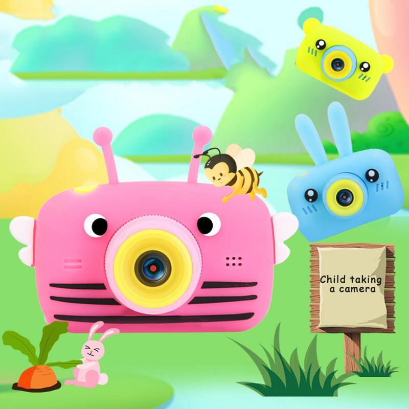 X9P мини-мультфильм детская камера Creative HD цифровая камера портативный 1080P для детей день рождения рождественский подарок