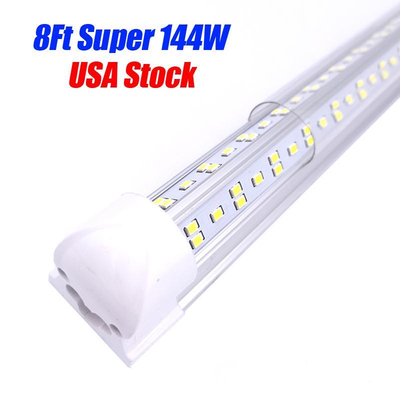 8FT LED-Röhre Beleuchtung V-Form 8 Fuß Design Shop LED-Leuchten 2ft 2ft 3ft 4ft 5ft 6ft Kühler Tür Gefrierschrank Beleuchtung Leuchtstofflampen