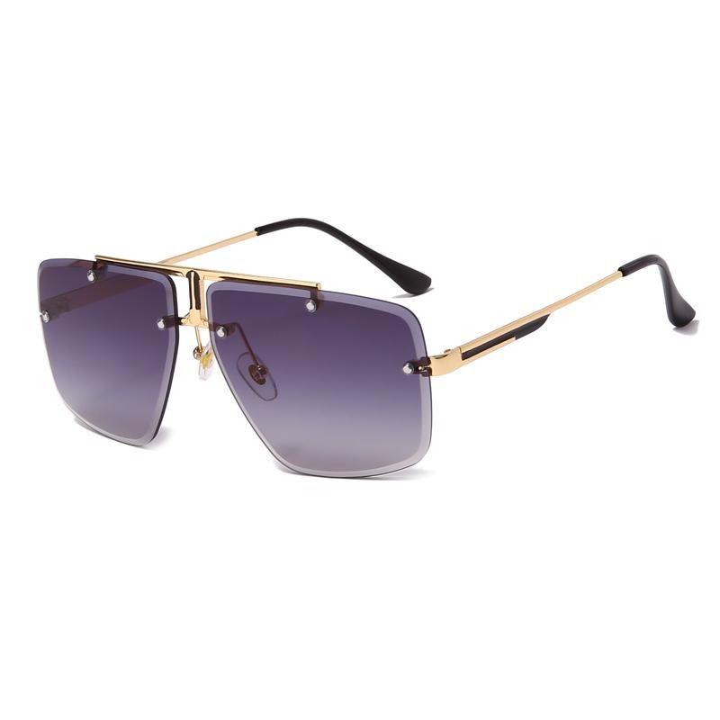 Square Sunglasses Metal Unisexe Vintage Hommes Femmes Mode Conduite Pêche Soleil Glases UV400 Sunglass Male Femme Pour Femmes Hommes