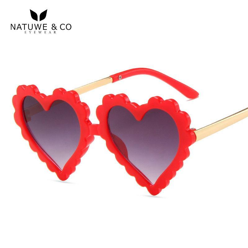 Gafas de sol Niños Lindo Amor Heart Girls Boys Light Pink Sunglass 2021 para niños Lentes inteligentes Sol