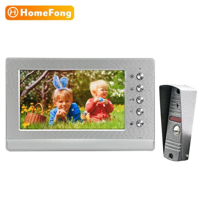 Homefond-Video-Tür-Intercom-Eintrag Sicherheitssystem 7-Zoll-Monitor mit 800tVl wasserdichtes Türklingel-Anruffeld-Unterstützung entsperren