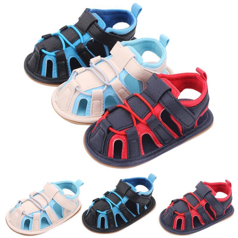 Primeiros Walkers Baby Boys Meninas Sandálias Soft não-Slip Borracha sola verão plana sapatos