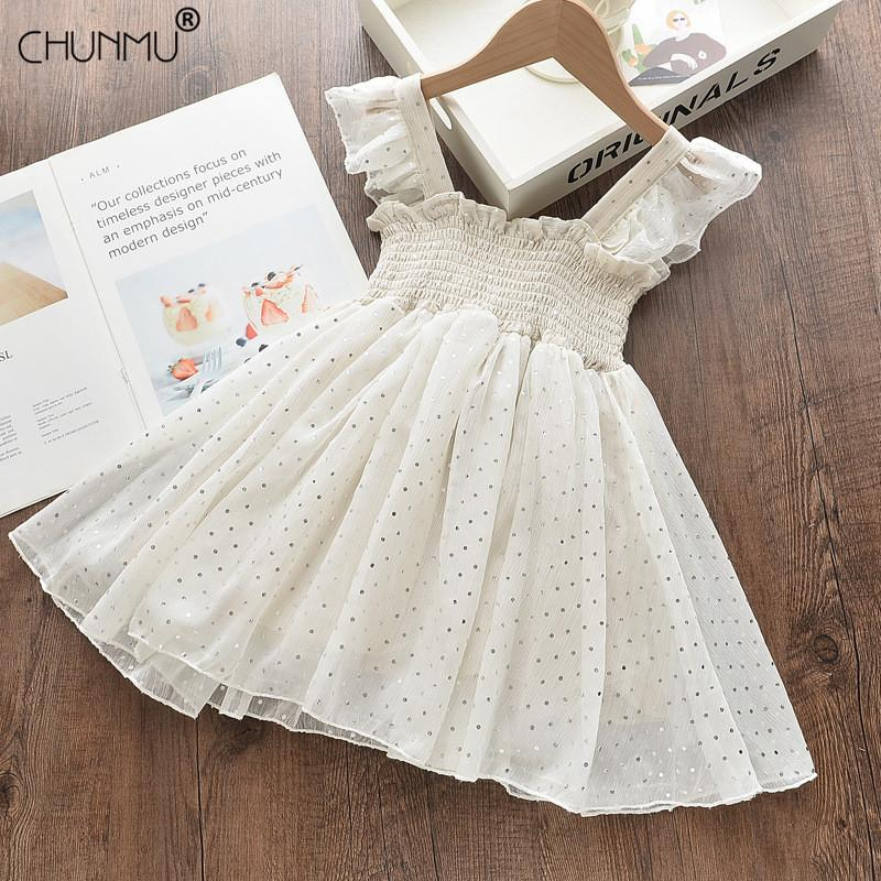 Vestidos de niñas de verano Casual Baby Girls Ropa Vestidos de niños para niñas Lace Chiffon Cumpleaños Princesa Vestimenta Escuela Abierto C0223