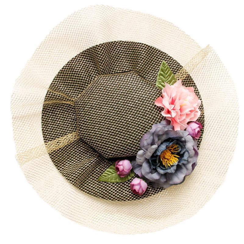 Gothic Lolita Nets Бальные шляпы Цветочные аксессуары для волос Свадебные винтажные клины для волос