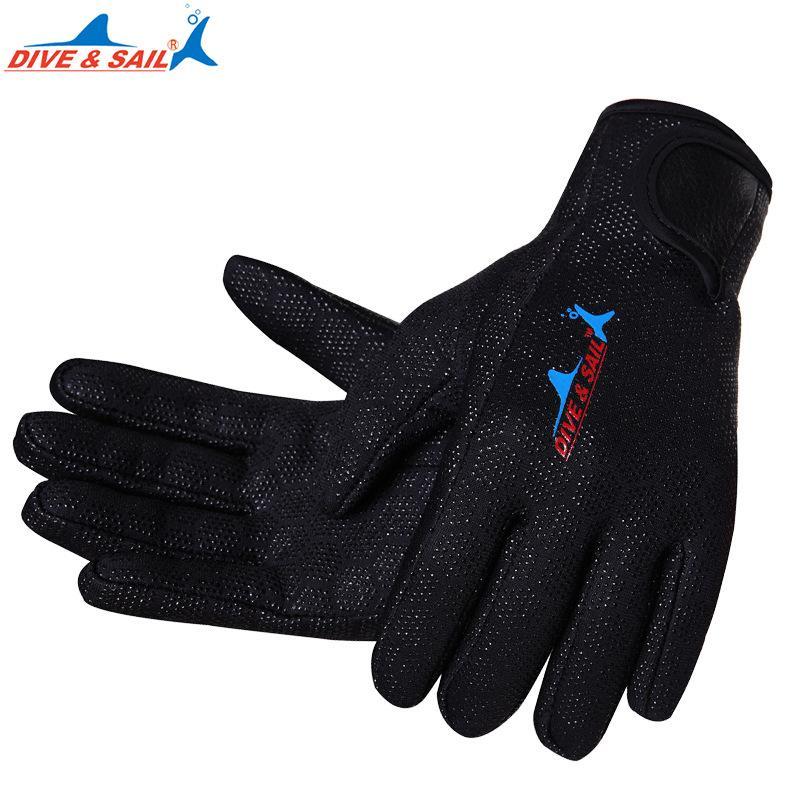 Мужчины Женщины 1.5 мм Неопреновые Ярлывые перчатки Полный палец Анстислип Скубантированные Перчатки Теплый серфинг Снорктлинговые гидрокостютные перчатки
