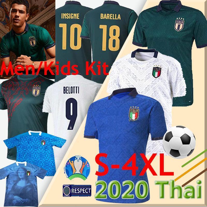 2020 Itália Copa Europeia Jersey 20 21 Jorginho El Shaarawy Bonucci Insignado Bernardeschi Futebol Piero Totti Chiellini Uniforme S-4XL