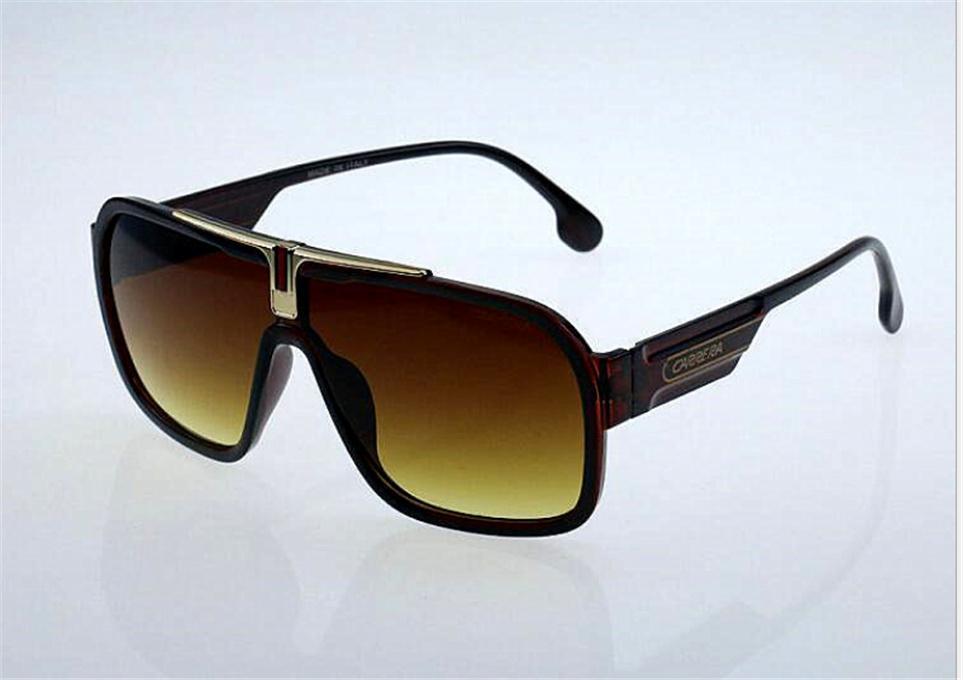 العلامة التجارية مصمم نظارات عالية الجودة أزياء الرجال النساء الأشعة فوق البنفسجية حماية الرجعية النظارات الرياضية خمر نظارات الشمس مع مربع # 002