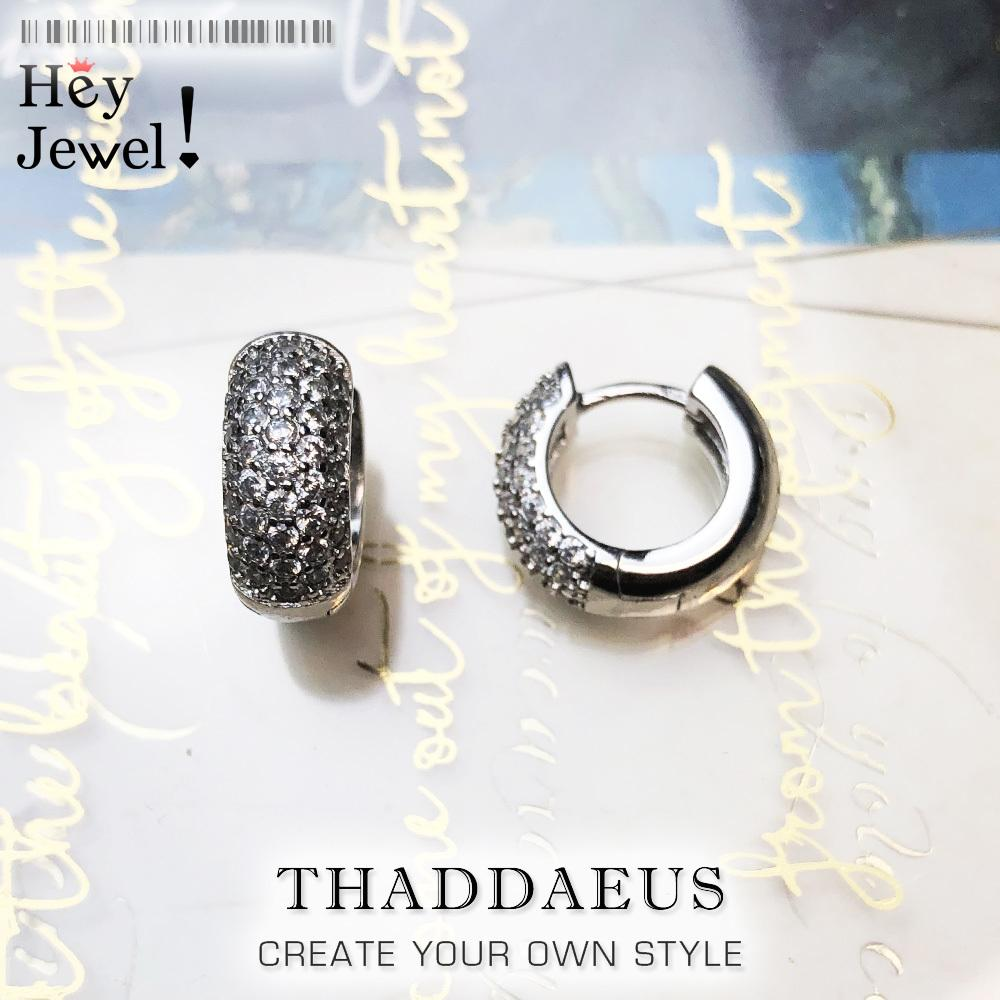 Белый CZ Creole Hinged Hoop Серьги Pave, Europe Style Glam Мода Хороший Думировидно для женщин, Подарок в Стерлинговом Серере 925 0221