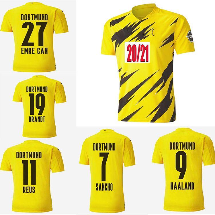 Fans Player Versão2020 2021 Dortmund Haaland Reus Reus Hazard 20 21 Camisas de futebol Balr Sancho 110