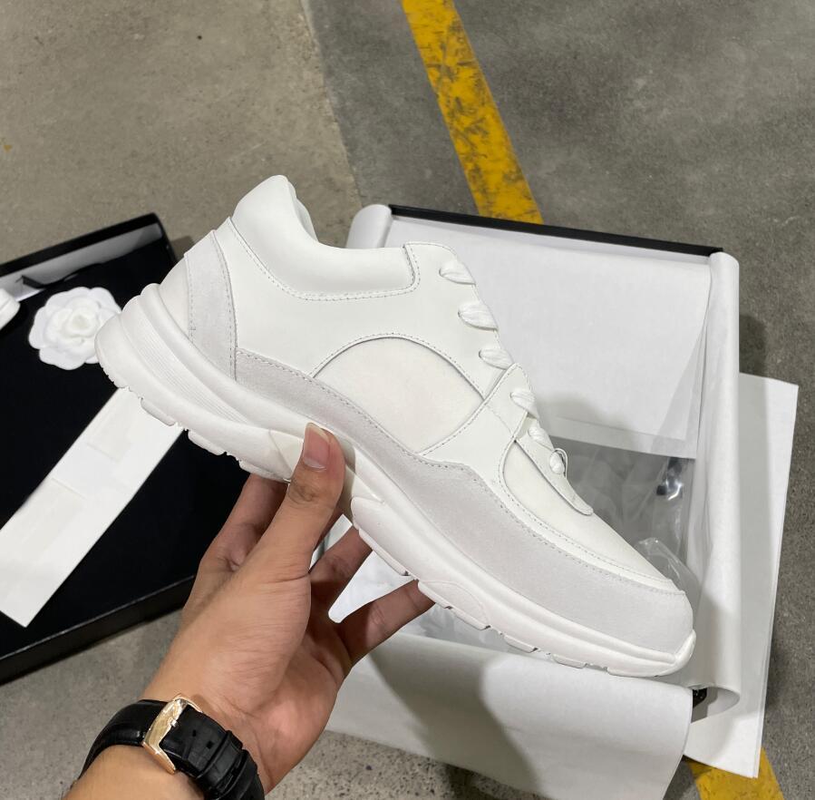 Luxury Designer Sneakers Hombres Mujeres Reflectante Zapatos Casuales Partido Terciopelo Calfskin Fibra Mixta Calidad superior con Tamaño 35-46