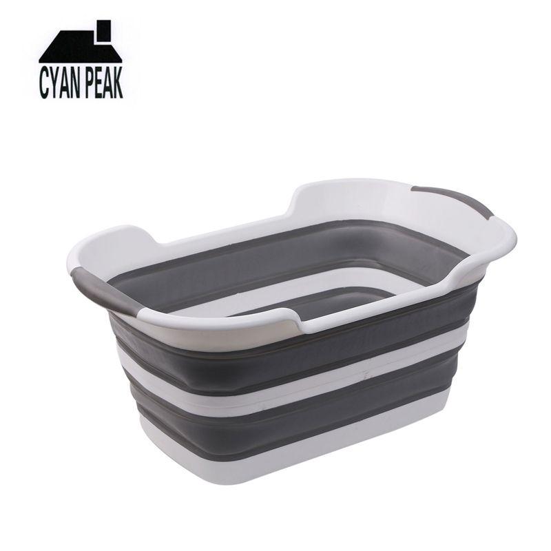 19L lavandería cesta sucia ropa cesta plegable cesta portátil lavandería accesorios accesorios ropa cestador almacenamiento de hogar lavado 210312