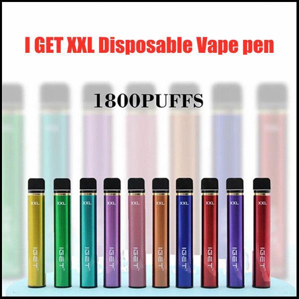 Igel xxl Einweg-Pod-Gerät-Kit-Zigarette 1800-Puff 950mAh 7ml Vorgefestigt Vape-Stick für Bang-Shion Lite plus Max-Flow