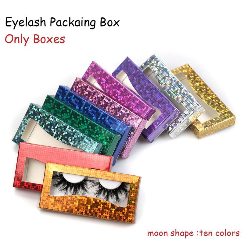 46 caja de embalaje de pestañas 3D Mink Peacher Papel de cartón Caja de embalaje de papel para una pestaña de 25 mm al por mayor a granel de pestañas baratas Bonito pestañas Packaging