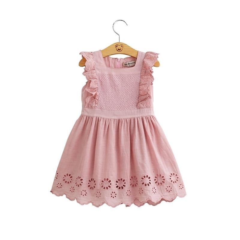 Vestido de bebé niña niños bordado princesa rosa vestido bebé niña vestidos de verano regalo de cumpleaños T200417