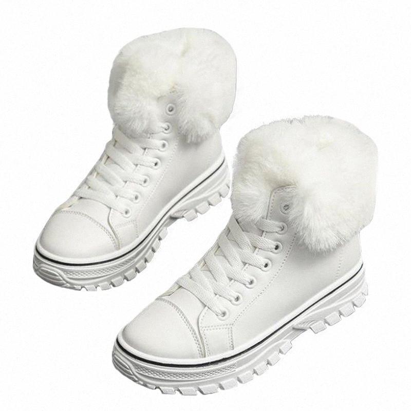 Зимний корейский стиль открытый женщины лодыжки снежные сапоги леди плюшевые пэчворк кросс завязанные ботас дамы короткие конные ботинки 191110 G5IC #