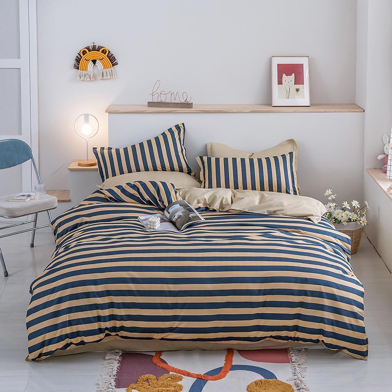 Geometrische neue Herbst Winter Bettwäsche Set Bettwäsche Bettbezug + Kissenbezugset