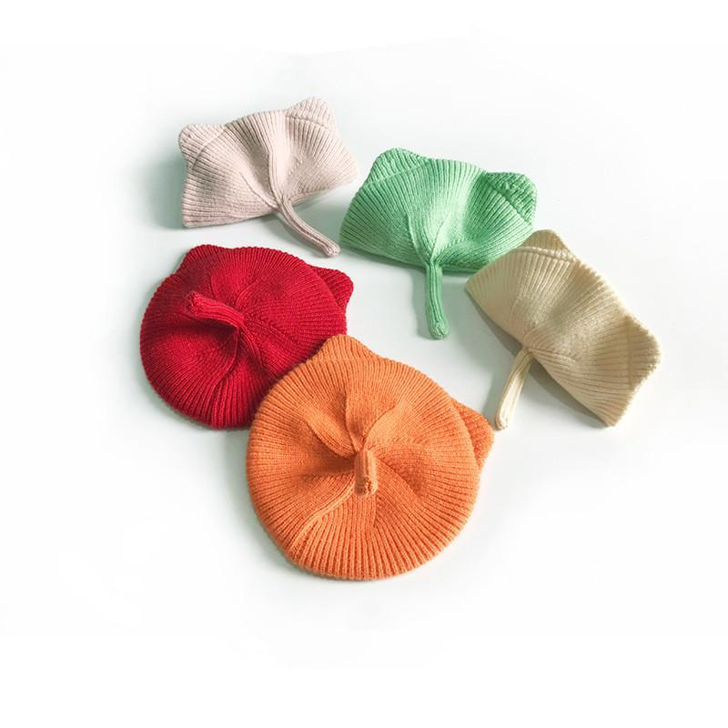 Caps & Hats 1-8yrs Baby Knit Hat Soft Fashion Autumn Bonnet Girls Berets Cat Ears Toddler Candy Solid Color Boy Girl Winter Cap
