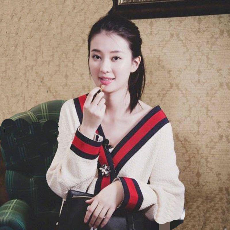 Mulheres Outono V Pescoço Patchwork Cardigan Camisola Casaco Branco Loose Plus Size Manga Longa Puxe Femme Jersey Tops V191130