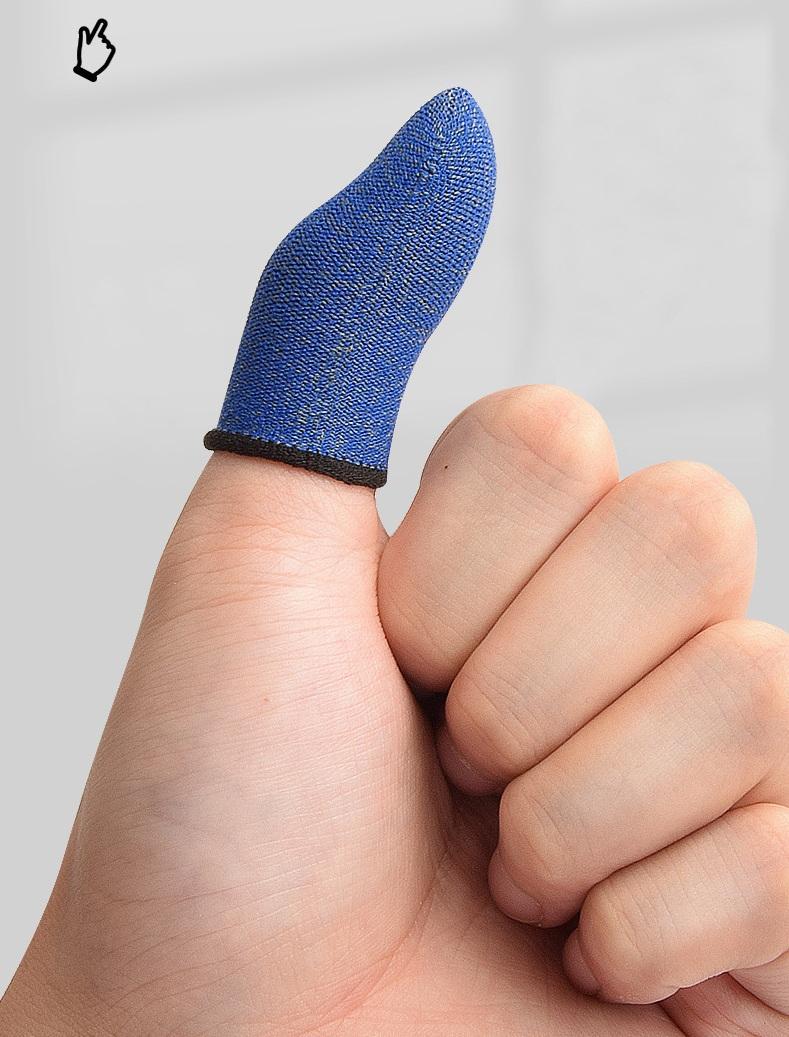 Mobile Touch Screen Sens sensible Gants du doigts Toot Toot Joysticks Conseils Jeux Jeux Silver Fiber Finger Manches 100Pair / Lot