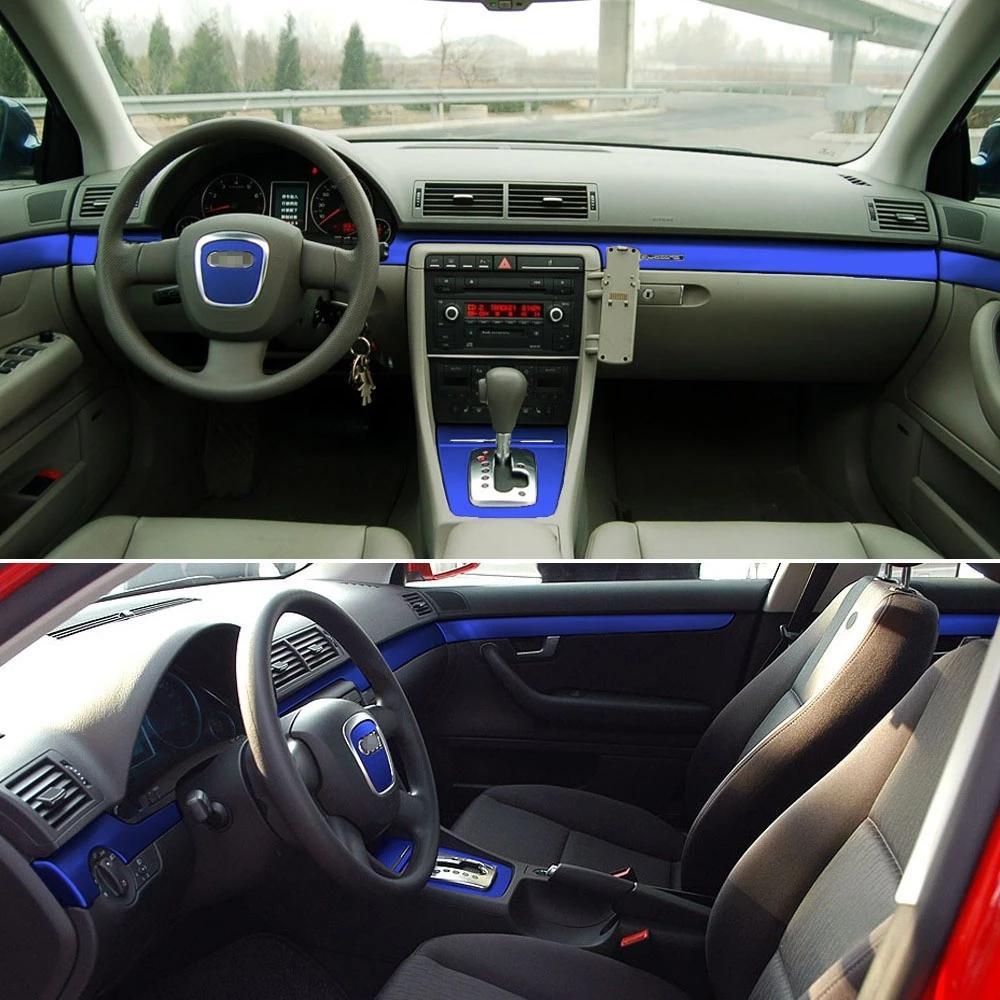 Per AUDI A4 B6 B7 B7 2002-2007 Adesivi autoadesivi autoadesivi 3D 5D fibra di carbonio adesivi auto in fibra di carbonio adesivi e decalcomanie auto styling accessori