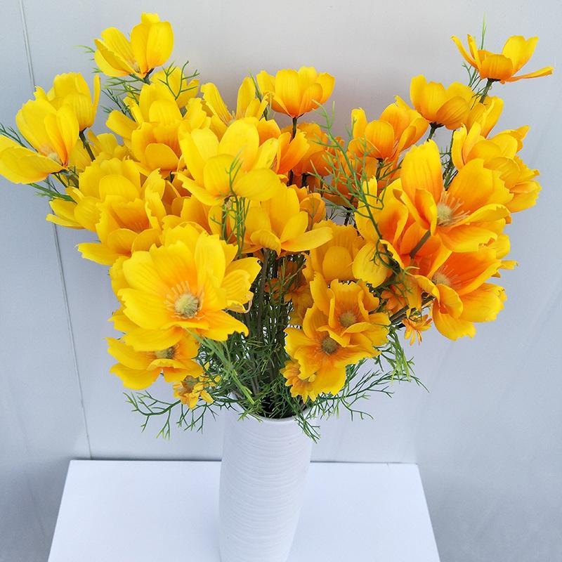 4 çatal simülasyon küçük gesang yapay çiçekler yaratıcı dekoratif fotoğrafçılık sahne ipek çiçekler el gelin buket çiçek tutarak
