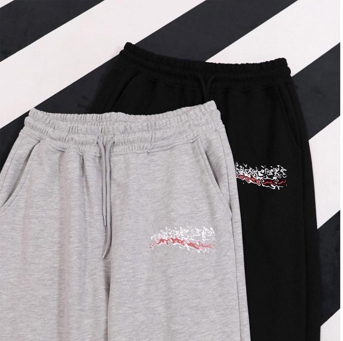 Mulheres Pant Mulher Harem Calças Homens Casual Pant Pant Primavera Verão New Streetwear Moda de Alta Qualidade Elástica Cintura Calças Quente 2021 Preto